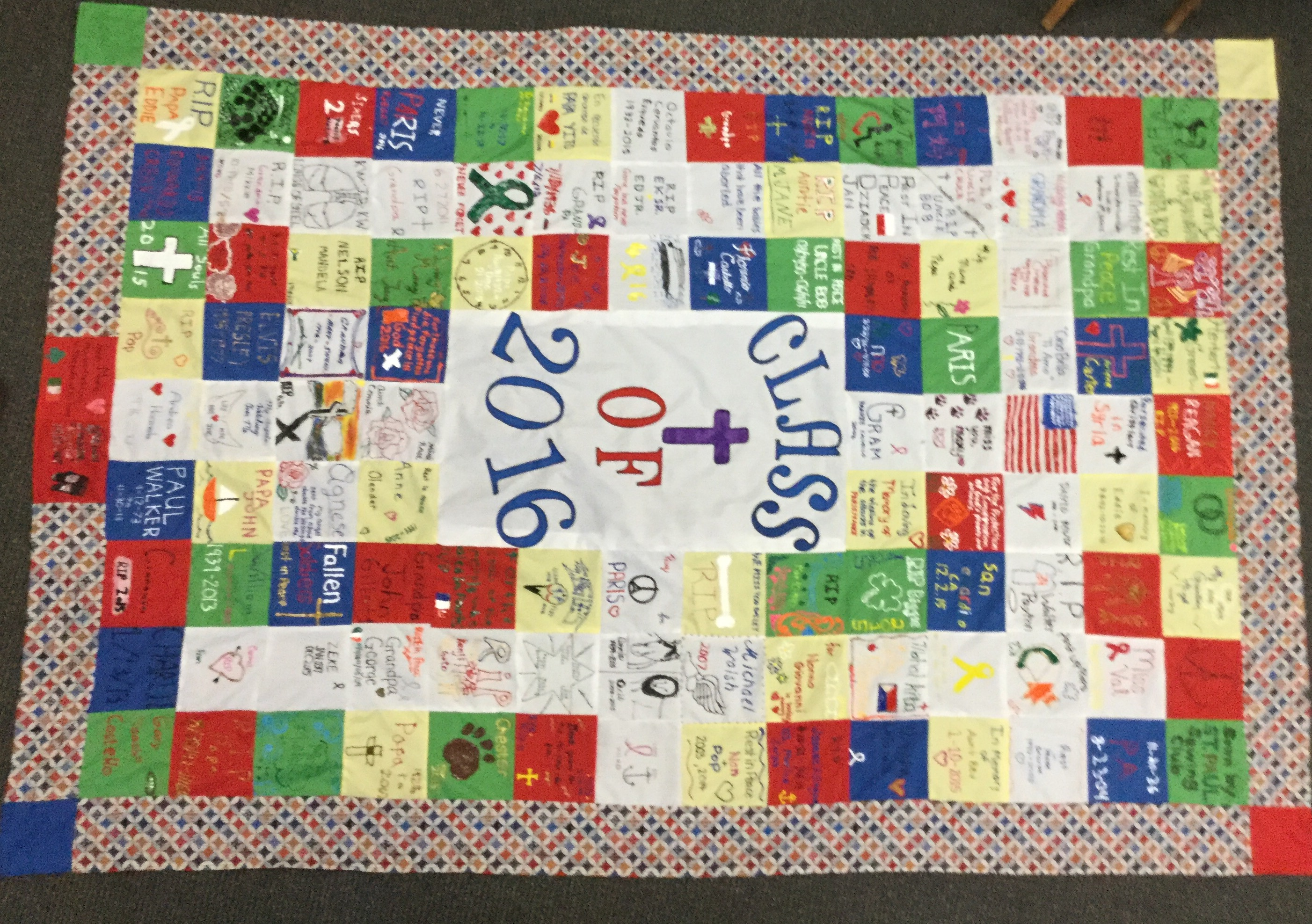 Classroom Quilt Themes : Class of quilt st paul catholic high school